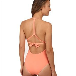 Roxy Deep V One Piece - Coral - NEW WITH TAGS